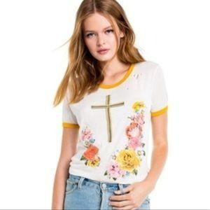 Wildfox Confessional Johnny Ringer Tee Floral M